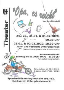 """Theater – """"Opa, es reicht"""""""