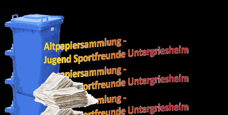 You are currently viewing Altpapiersammlung – Jugend Sportfreunde Untergriesheim