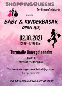 Read more about the article Baby & Kinderbasar OPEN AIR am 02.10.2021